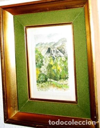 Arte: Acuarela con paisaje de Sierra Espuña, pintada por Jaloque, con marco- - Foto 2 - 68694897