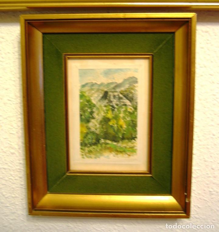 Arte: Acuarela con paisaje de Sierra Espuña, pintada por Jaloque, con marco- - Foto 3 - 68694897