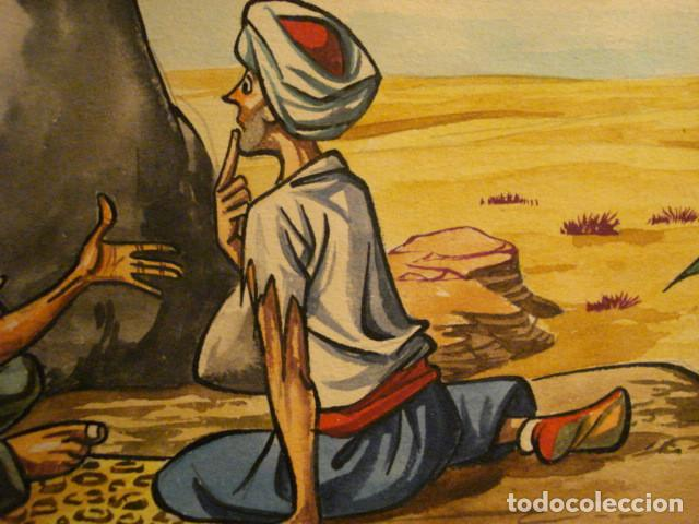 Arte: PRECIOSO DIBUJO AL GOUACHE DEL FAMOSO ILUSTRADOR IÑIGO - IGNACIO HERNANDEZ SUÑER AÑOS 1950 - Foto 3 - 68789677
