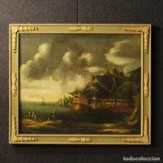 Arte: VIEJA PINTURA ITALIANA MARINA DEL SIGLO XVIII. Lote 68833761