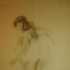 Arte: BAILARINA. FIRMADO GISBERT SOLER. FECHADO 1945.. Lote 68855497
