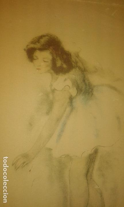 Arte: Bailarina. Firmado Gisbert Soler. Fechado 1945. - Foto 2 - 68855497