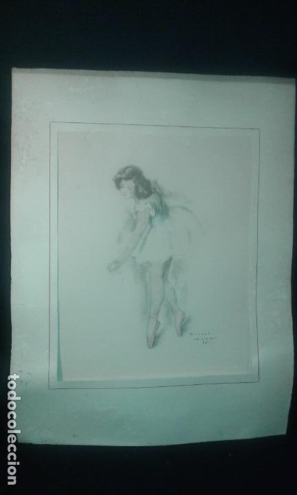 Arte: Bailarina. Firmado Gisbert Soler. Fechado 1945. - Foto 9 - 68855497