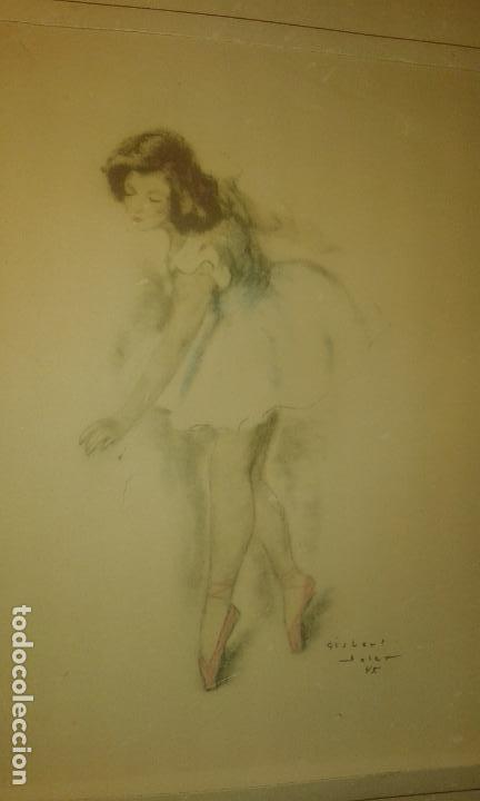 Arte: Bailarina. Firmado Gisbert Soler. Fechado 1945. - Foto 10 - 68855497