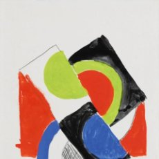 Arte: SONIA DELAUNAY RYTHME COULEUR NO. 1253 ORIGINAL GOUACHE AND PENCIL ON PAPER, SIGNED, DATED 67. Lote 69306549