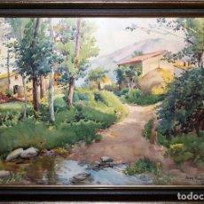 Arte: JOAN BAIXAS I CARRETER (1863-1925) - PAISAJE - ACUARELA / PAPEL - 32 X 47 CM.. Lote 70284125