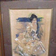 Arte: CECILIO PLA.(1860-1934) ACUARELA. Lote 70416685