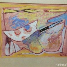 Arte: FRANCISCO BORES (1898-1972) BODEGON 1961 ACUARELA. Lote 70416869