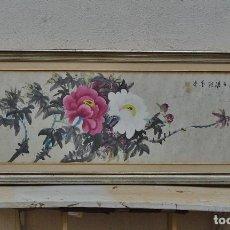 Arte: ANTIGUA PINTURA CHINA SOBRE PAPEL - 120 X 35 CM. Lote 70737045