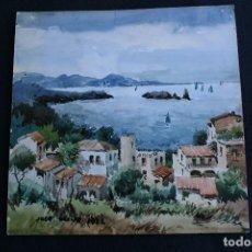 Arte: JOSÉ OLIVE GÓMEZ ( BARCELONA 1944 ) PRECIOSA ACUARELA , FIRMADA. Lote 71488735