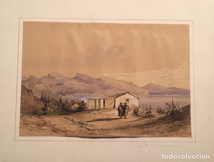 GEORGE HARCOURT (1869-1947). ROMANTICISMO. SG. XIX. VÉLEZ MÁLAGA. (Arte - Acuarelas - Contemporáneas siglo XX)