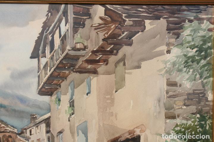 Arte: JOSE AYNETO, BONITA ACUARELA REPRESENTANDO UNA VISTA DE UN PUEBLO - Foto 3 - 71902387