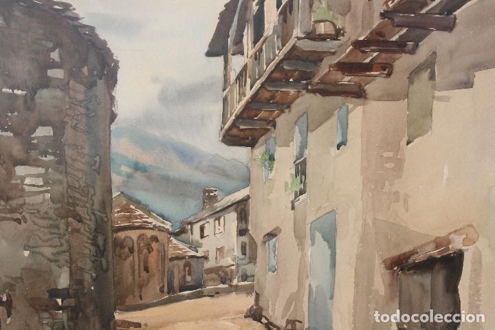 Arte: JOSE AYNETO, BONITA ACUARELA REPRESENTANDO UNA VISTA DE UN PUEBLO - Foto 4 - 71902387