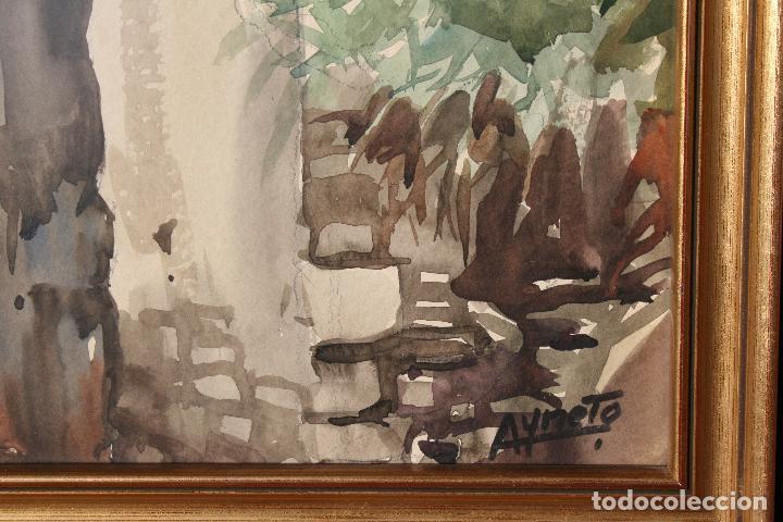 Arte: JOSE AYNETO, BONITA ACUARELA REPRESENTANDO UNA VISTA DE UN PUEBLO - Foto 5 - 71902387