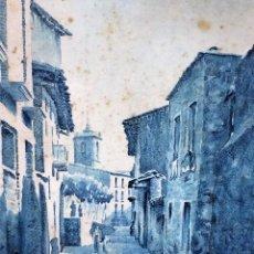 Arte: A2-101. PUEBLO CATALÁN(?). ACUARELA SOBRE PAPEL. SIN FIRMA. ESPAÑA(?). CIRCA 1960. Lote 71921215