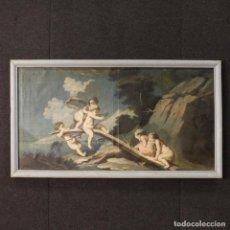Arte: ANTIGUA PINTURA ITALIANA PAISAJE CON EL JUEGO PUTTI DEL SIGLO XVIII. Lote 72224495