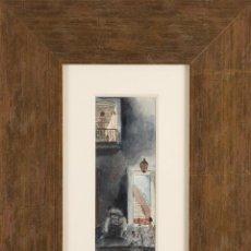 Arte: 1934 - PIERRE BERJOLE - ACUARELA ORIGINAL FIRMADA - LESBIANAS - GAY - PROSTITUCION EROTICA. Lote 72729247