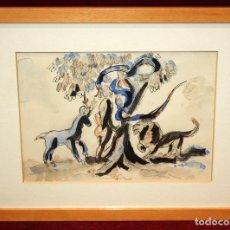 Arte: NICOLAU MARIA RUBIO I TADURI (MAHÓN, 1891 - BARCELONA, 1981) ACUARELA PAPEL. EVA Y LA SERPIENTE.. Lote 72753075