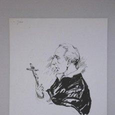 Arte: RETRATO ACUARELA ORIGINAL LEMOS. JUAN MONTBLANCH, DOMINICO DE PETRA, MALLORCA. Lote 73733399