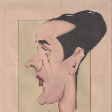 Arte: AUTOCARICATURA DEL ACTOR LUIS BELLIDO, FIRMADA BEYI, A LA ACUARELA. AÑOS 40'S. Lote 74204963
