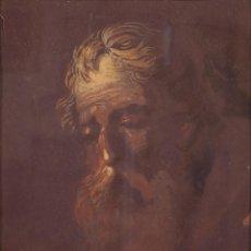 Arte: GOUACHE SOBRE PAPEL RETRATO ANCIANO GARCÍA MENCÍA (1853-1915) FIRMADO. Lote 74490827