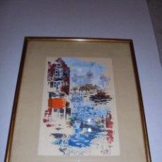 Arte: (M) JOSE LUIS FLORIT - ACURELA , ACRILICO , ENMARCADO DE EPOCA . DIBUJO 24X16,5 , TOTAL 36X29 CM. . Lote 74537443