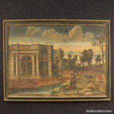 Arte: ANTIGUA PINTURA ITALIANA PAISAJE CON LA ARQUITECTURA DEL SIGLO XVIII. Lote 74957167