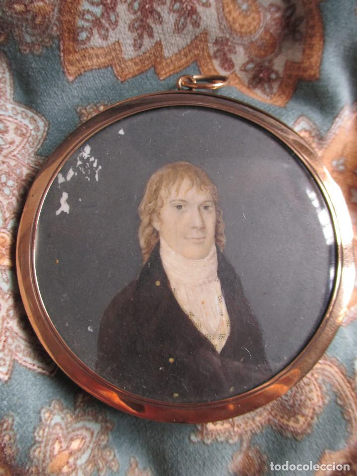 retrato en miniatura de caballero, con trasera - Comprar Acuarelas ...