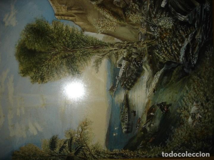 Arte: Excepcional acuarela firmada aunque ilegible siglo XVIII final o comienzos XIX - Foto 2 - 75238715