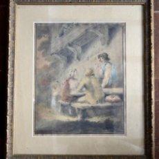 Arte: GEORGE MORLAND / ACUARELA FIRMADA SIGLO XVIII / APROX. 1780. Lote 75581395