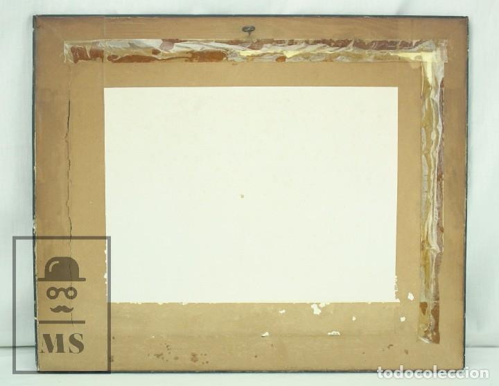 Arte: Acuarela Sobre Papel, Enmarcada - Paisaje Rural. Firmada A. Roca - Medidas 46,5 x 38 cm - Foto 10 - 75968999