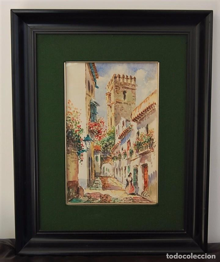 Arte: 2x (pareja) - MAXI HUERTAS ( 1950s ) - Sevilla, Barrio de Santa Cruz - Foto 2 - 76207579