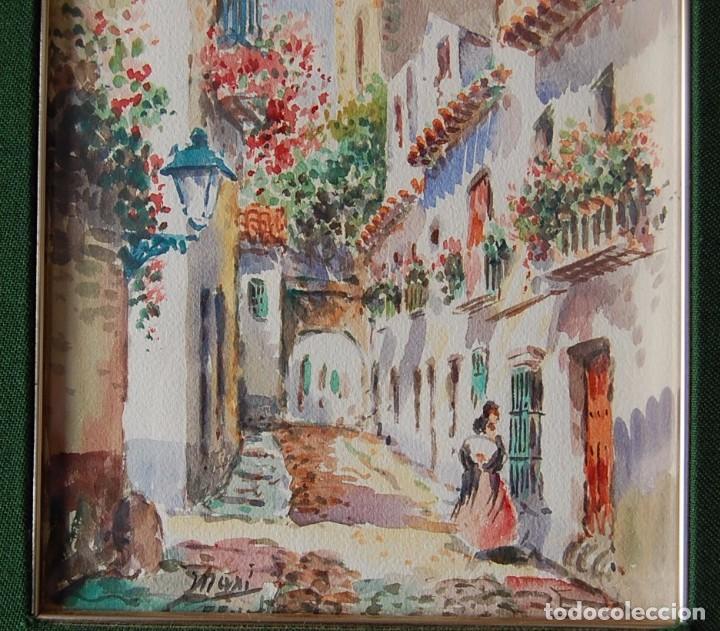 Arte: 2x (pareja) - MAXI HUERTAS ( 1950s ) - Sevilla, Barrio de Santa Cruz - Foto 4 - 76207579