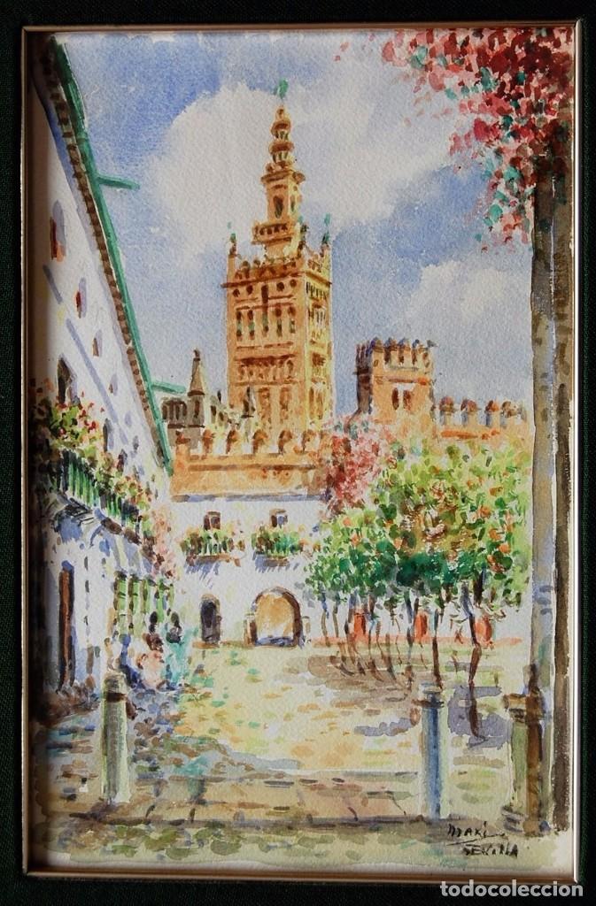 Arte: 2x (pareja) - MAXI HUERTAS ( 1950s ) - Sevilla, Barrio de Santa Cruz - Foto 7 - 76207579