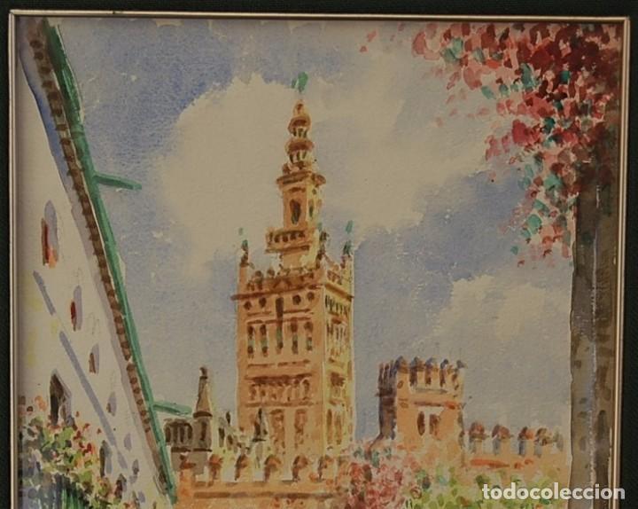 Arte: 2x (pareja) - MAXI HUERTAS ( 1950s ) - Sevilla, Barrio de Santa Cruz - Foto 8 - 76207579