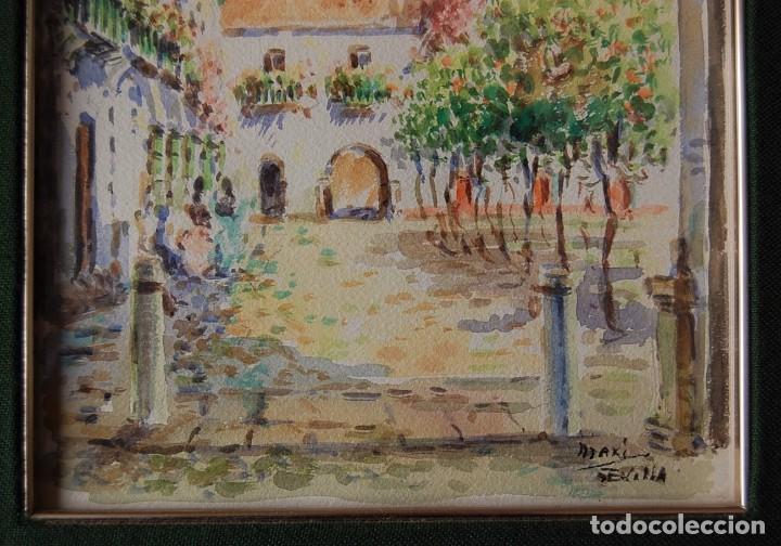 Arte: 2x (pareja) - MAXI HUERTAS ( 1950s ) - Sevilla, Barrio de Santa Cruz - Foto 9 - 76207579