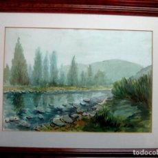 Arte: JORGE GUILLEMOT. GRUPO PONT DE FUSTA (ESCUELA VALENCIANA). ACUARELA 35X50 CMS. Lote 76540891