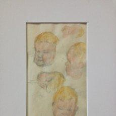 Arte: MARAVILLOSO BOCETO ORIGINAL EN ACUARELA, FIRMADO Y FECHADO 1930, POSIBLEMENTE ESCUELA VALENCIANA. Lote 76652163