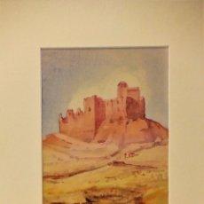 Arte: ACUARELA ORIGINAL DE PAISAJE ARAGONES FIRMADA POR LASCASO EN 1981. Lote 76680263