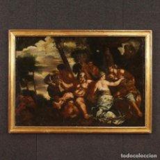 Arte: ANTIGUA PINTURA ITALIANA BACANAL DEL SIGLO XVIII. Lote 76862047