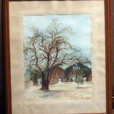 Arte: ENRIQUETA CARBONELL JORDÀ,1929, ALCOY ACUARELA ENMARCADA (38X45). Lote 76914299
