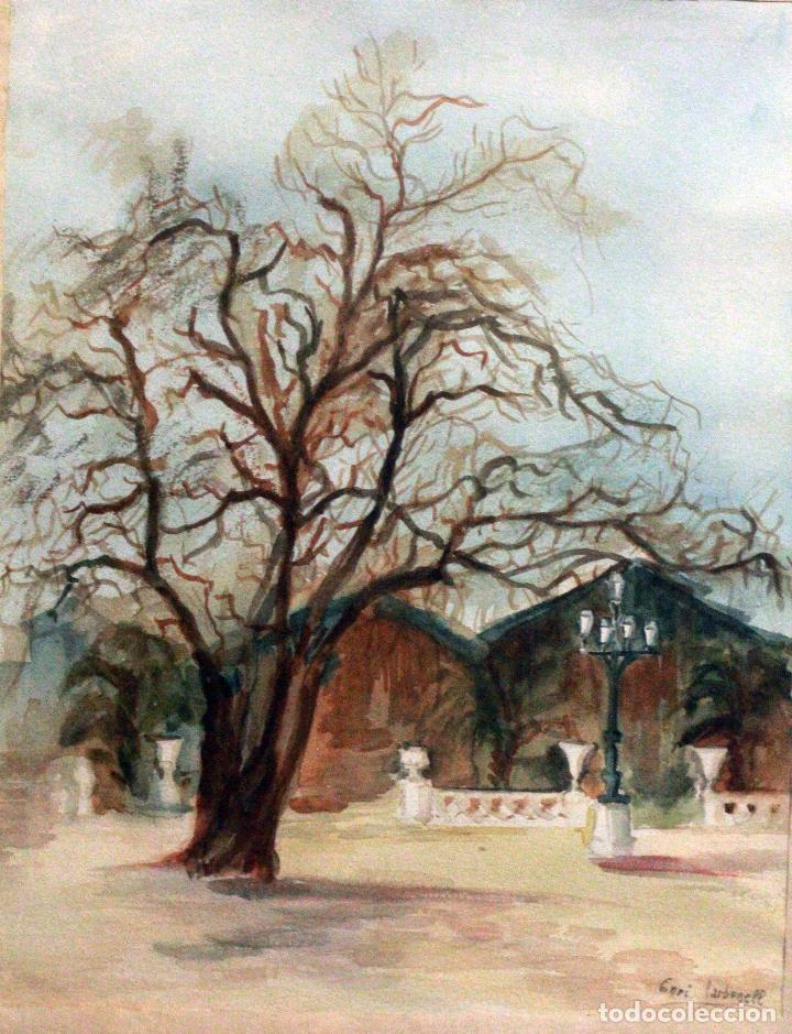 Arte: Enriqueta Carbonell Jordà,1929, Alcoy acuarela enmarcada (38x45) - Foto 2 - 76914299