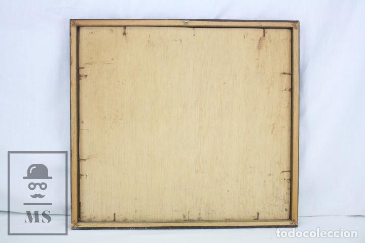Arte: Acuarela Sobre Papel, Enmarcada - Paisaje Lluvioso - Firmada Slulpt ? - Medidas 46 x 41,5 cm - Foto 5 - 76954809