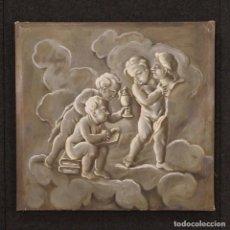Arte: PINTURA FRANCÉS ALEGORÍA DE LA ESCULTURA CON PUTTI DEL SIGLO XIX. Lote 76964413