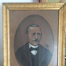 Arte: RETRATO DE CABALLERO FIRMADO Y FECHADO EN 1900. Lote 77308457