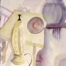Arte: ACUARELA ABSTRACTA, FIRMA ILEGIBLE. 20X26CM (SIN CONTAR MARCO). Lote 77459373