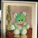 Arte: CUADRO OSITO PARA DORMITORIO INFANTIL- ACUARELA FIRMADA-. Lote 77582853