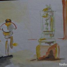 Arte: PRECIOSA PAREJA DE ACUARELAS. Lote 77611229