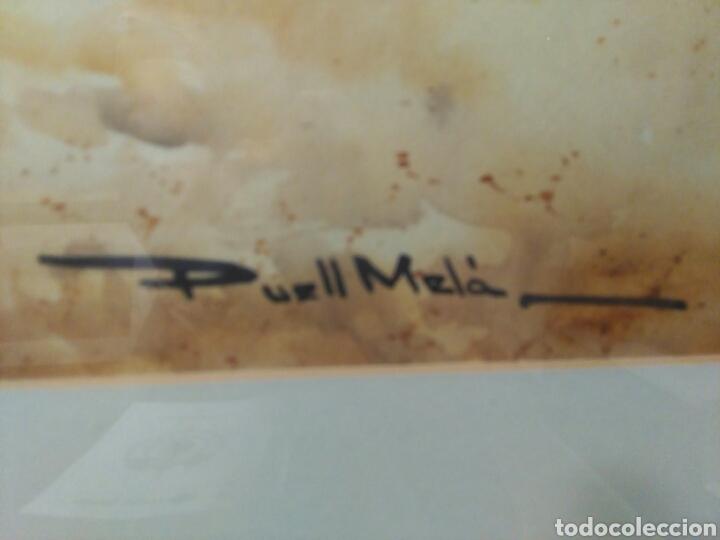 Arte: Calella de Palafrugell,firmado Puell Mela, pintor nacido en Sabadell 1953 - Foto 4 - 78066307