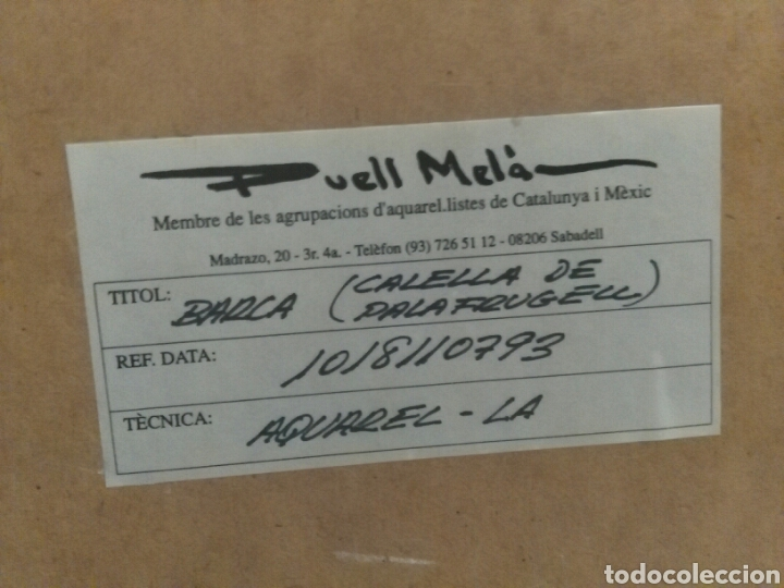 Arte: Calella de Palafrugell,firmado Puell Mela, pintor nacido en Sabadell 1953 - Foto 5 - 78066307